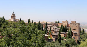 Alhambra Palace - medieval moorish castle in Granada, Andalusia, Spain Royalty Free Stock Image