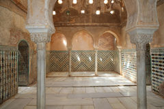 Alhambra Palace - medieval moorish castle in Granada, Andalusia, Spain.  Royalty Free Stock Photography
