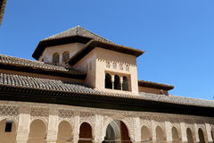 Alhambra Palace - medieval moorish castle in Granada, Andalusia, Spain Royalty Free Stock Photos