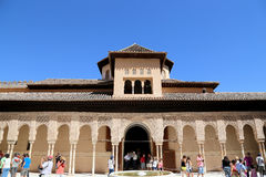 Alhambra Palace - medieval moorish castle in Granada, Andalusia, Spain Stock Image