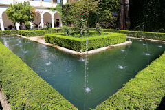 Alhambra Palace - medieval moorish castle in Granada, Andalusia, Spain Stock Photos