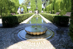 Alhambra Palace - medieval moorish castle in Granada, Andalusia, Spain Stock Images