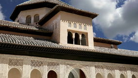 Alhambra Palace - medieval moorish castle in Granada, Andalusia, Spain stock footage