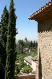 Alhambra Palace - medieval moorish castle in Granada,Spain Royalty Free Stock Photos