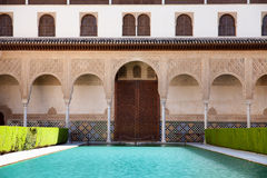 Alhambra Palace. Palacios Nazaries - one of the most beautiful palace of Alhambra (Granada, Spain) historical building complex royalty free stock photo