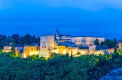 Alhambra palace, panoramic view, Spain Stock Photos