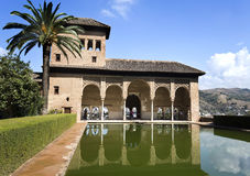 Alhambra Palace of the Partal. Palace of the Partal, also called Tower of the Ladies, is the very oldest palace dating from the early 14th century in the Stock Photography