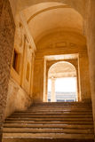 Alhambra palace passage. Stairs and entrance to the courtyard of Alhambra palace, Granada, Spain Royalty Free Stock Photo