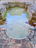 Alhambra Palace Pool. Pools of water at Alhambra Palace are picturesque with the Moorish designs stock photography