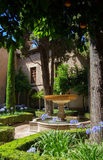 Alhambra Palace. A pretty courtyard in Alhambra Palace,Spain Stock Photo