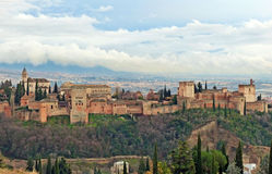 Alhambra Palace After the Rain Royalty Free Stock Images