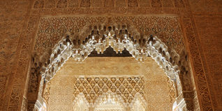 Alhambra palace roof. Alhambra, was taken in early May 2010 in Europe Spain Royalty Free Stock Photo