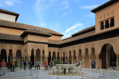 Alhambra palace, Spain. The Alhambra is a palace and fortress complex located in Granada, Andalusia, Spain. It was originally constructed as a small fortress in stock image