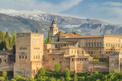 Alhambra palace in spain Royalty Free Stock Photos