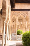 Alhambra Palace. In sunshine, Granada, Spain Royalty Free Stock Image