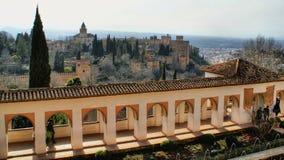 Alhambra Palace & trädgårdar i granat Royaltyfria Foton