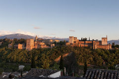 Alhambra palace. View of the Alhambra palace Stock Photography