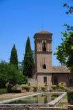 Alhambra Palace-zomer Granada Spanje stock foto's