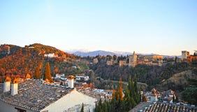 Alhambra-Palast und Generalife-Gärten, Granada, Spanien Stockbilder