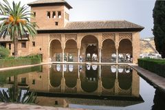 Alhambra Paleis - Granada Spanje Royalty-vrije Stock Foto