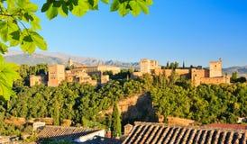 Alhambra Paleis, Granada, Spanje Royalty-vrije Stock Foto