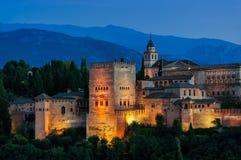 Alhambra paleis in Granada, Spanje Stock Foto's