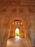 Alhambra paleis in Granada, Spanje, gezichtspunt Royalty-vrije Stock Afbeeldingen