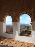 Alhambra panelu Kamienny cyzelowanie Zdjęcie Stock