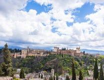 Alhambra Panorama stock foto
