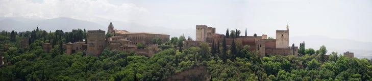 alhambra panorama Royaltyfri Bild