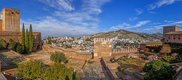 Alhambra Panorama Royalty Free Stock Photography