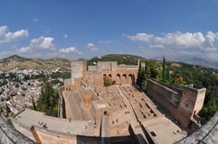 Alhambra Panoramic View Royalty Free Stock Image