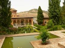 Alhambra parc mening stock afbeeldingen