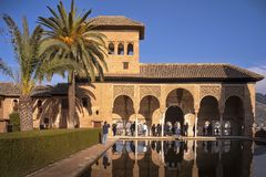 Alhambra Partal palace, Granada, Spain royalty free stock images
