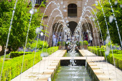 Alhambra patio στη Γρανάδα Στοκ εικόνα με δικαίωμα ελεύθερης χρήσης