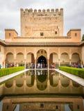 Alhambra, Patio de Arrayanes Στοκ εικόνες με δικαίωμα ελεύθερης χρήσης