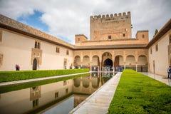 Alhambra, Patio de Arrayanes Στοκ Εικόνες