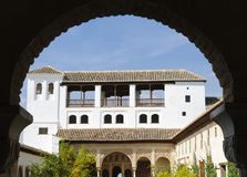 Alhambra:Patio de la Acequia in the Generalife Stock Photo