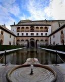 Alhambra, Patio de los Arrayanes, Spagna Fotografia Stock