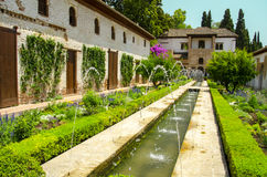 Alhambra patio in Granada. Spain stock image