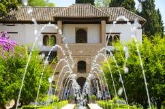 Alhambra patio in Granada. Spain royalty free stock image