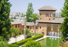 Alhambra patio in Granada Stock Images