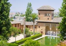 Alhambra patio in Granada. Spain stock images