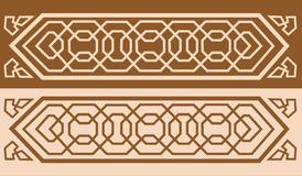 Alhambra Pattern_01. Alhambra Pattern with Isometric design of interlacing geometric forms Stock Image