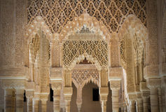 Alhambra pillars Royalty Free Stock Photography