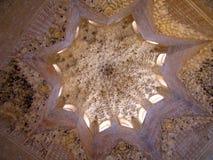 Alhambra Plafond Stock Afbeelding