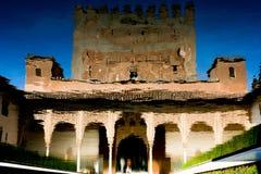 alhambra reflexion Arkivbild