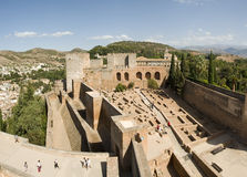 Alhambra ruins. The Alhambra (Arabic: Al Hamra; literally the red) is a palace and fortress complex of the Moorish monarchs of Granada, in southern Spain (known Stock Photography