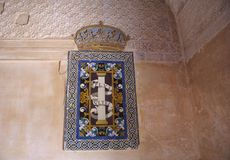 Alhambra ruins in Granada, Spain Royalty Free Stock Photo