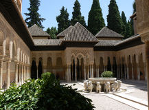 Alhambra's lion Fountain Royalty Free Stock Photos